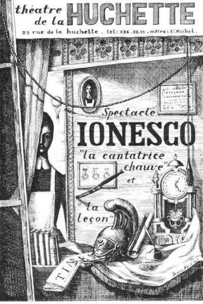 """Poster for Eugène Ionesco's """"The Bald Soprano"""""""