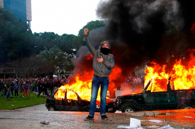 Communist_fist_on_demonstrations_of_21_January_2011_NOCAPTIONS