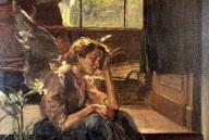 Sitzender_Engel_auf_der_Treppe,_Mädchen_auf_der_Treppe._1910